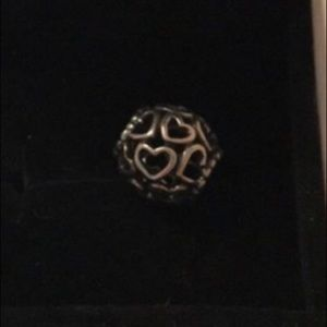 Pandora open hearts charm sterling silver